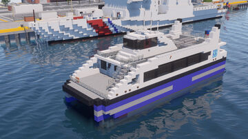 NYC Ferry Boat Minecraft Map & Project