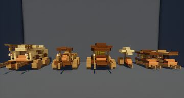 wagon set | DOWNLOAD SCHEMETICA here! Minecraft Map & Project