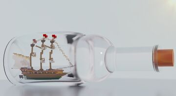 Ship in bottle Minecraft Map & Project