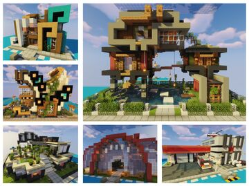 Just Like Scribbling - Some Modern Buildings Minecraft Map & Project