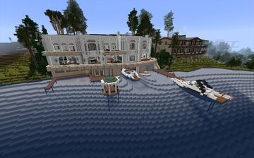 Lake Mansion Minecraft Map & Project