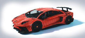 Lamborghini Aventador SV Minecraft Map & Project
