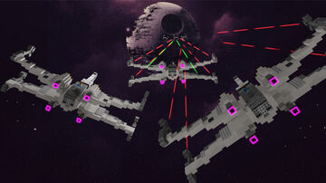 X-Wing vs TIE Fighter [DOWNLOAD] Minecraft Map & Project