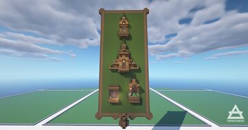 Ornate Wooden Window Designs Minecraft Map & Project