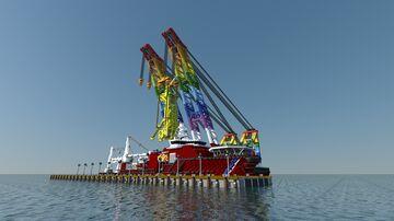 floating crane Rainbow-8 Minecraft Map & Project