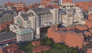 London Charing Cross Station (1:1 London Project) Minecraft Map & Project