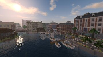 Portville - A city with working traffic system Minecraft Map & Project