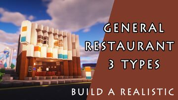 General restaurant 3 types Minecraft Map & Project