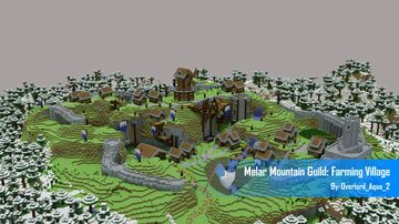 Melar Mountain Guild: Farming Village Minecraft Map & Project