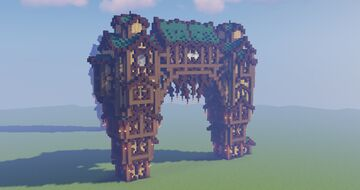 Fantasy Gate Structure Minecraft Map & Project
