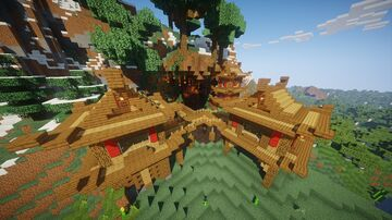 Japanese Mountain House 2 Minecraft Map & Project