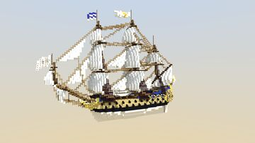 La  Ensoleillement Ship of The Line (ShipSide) Minecraft Map & Project