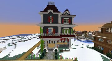 Victorian Mansion plaza Minecraft Map & Project