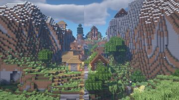 Hilltop Village Transformation Minecraft Map & Project