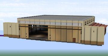 Custom Aircraft Hangar Minecraft Map & Project