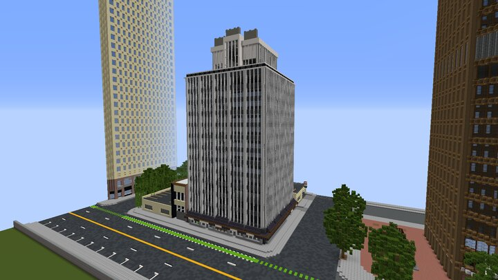 Popular Server Map : First, ever reference office Portland, Oregon, building in 1.5:1 scale by using google earth.