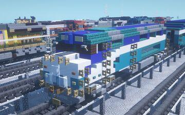SDNX San Diego Coaster EMD F40-PH Minecraft Map & Project