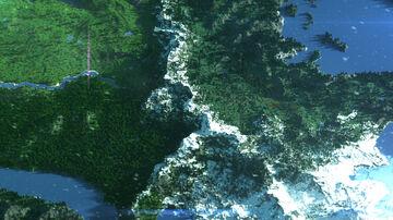 Mountain pass 5500x5500 Minecraft Map & Project
