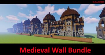 Medieval wall bundle 1.14+ Minecraft Map & Project