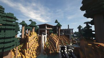 Modern Contemporary Woodland Mansion [Ocean Oasis Preview] Minecraft Map & Project