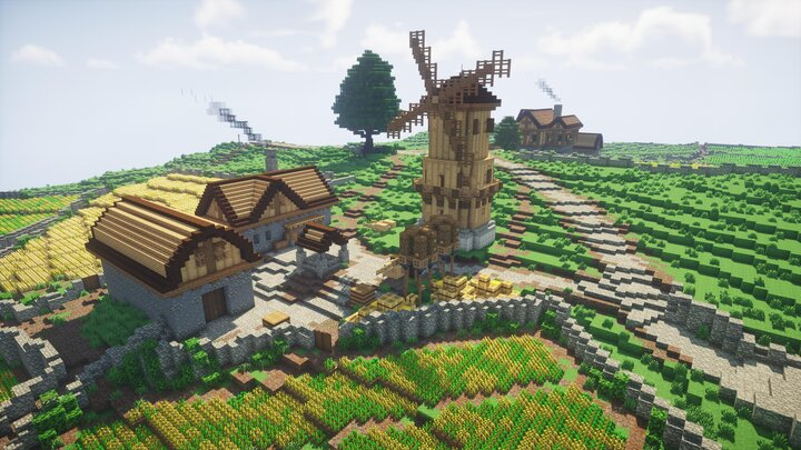 A nearby farm.