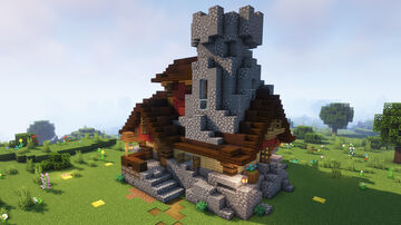 Little Fantasy Medieval Home 1.16+ Build Minecraft Map & Project