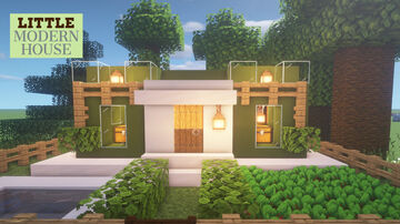 LITTLE MODERN  HOUSE  :MINECRAFT :HOW TO BUILD IN MINECRAFT Minecraft Map & Project