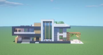 A Simple Default Modern Home Concept Test Minecraft Map & Project