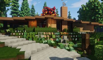 Mid-Century Modern House -- YAMI -- Minecraft Map & Project