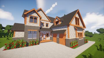 Modern house - Chisel&bits 3 Minecraft Map & Project