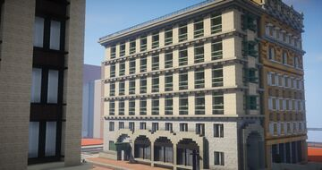 Downtown Low-Rise Hotel Minecraft Map & Project