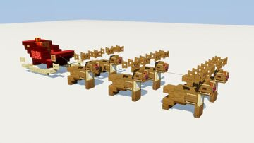 Santa Sleigh Minecraft Map & Project