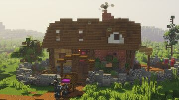 Purple Dye Maker's House Minecraft Map & Project