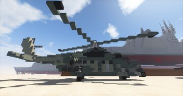 Mil Mi-24 Helicopter  1.5:1 Minecraft Map & Project