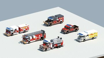 Dream's pack of fire trucks [With Download] Minecraft Map & Project