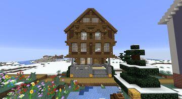 large cottage community center. Minecraft Map & Project
