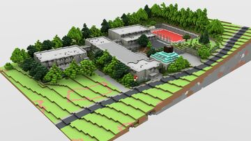 BTE Project - Primary and Secondary School, Diana Street, District 12, Budapest Minecraft Map & Project