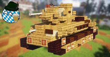 Pz.Kpfw. T-34-747(r) (2:1 Scale) Minecraft Map & Project