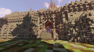 EPIC Mountain Castle (Medieval + Small Custom Map) + Free Download Minecraft Map & Project