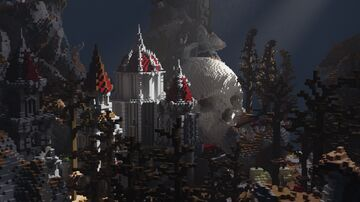 Castle spawn with skull [⬇] Minecraft Map & Project
