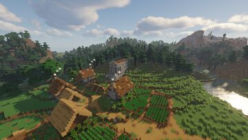 Conkordian Settlement with Temple Minecraft Map & Project