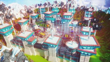 Sci-Fi Military Prison Spawn Minecraft Map & Project
