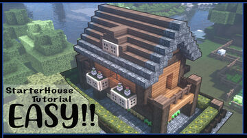 Minecraft How to make a starter house( Simple and easy Tutorial) Minecraft Map & Project