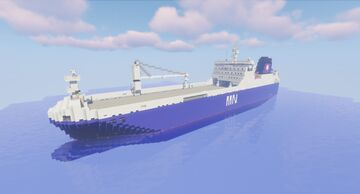 MN Tangara - French Ro-Ro ship (1.1 scale) Minecraft Map & Project