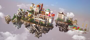 04-B | Industrial Floating Islands Minecraft Map & Project