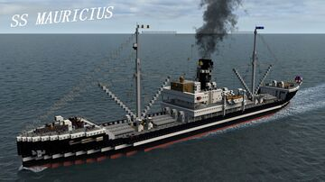 SS MAURICIUS 1912 [FULL INTERIOR] + DOWNLOAD Minecraft Map & Project