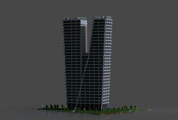 V Tower   Modern Prague Skyscraper Minecraft Map & Project
