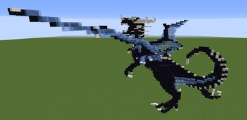 Blue and Obsidian Dragon - Take off Minecraft Map & Project
