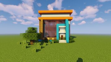 Cube House Modern Design Minecraft Map & Project