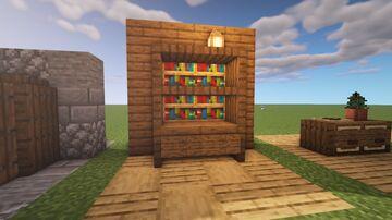 Bookshelf Design w/ Tutorial Minecraft Map & Project